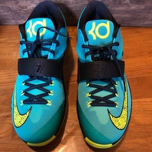Nike KD 7 VII size 12 Jade Volt uprising